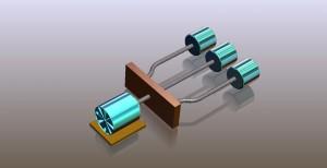 Single Power Source Flexible Drive Shaft Assembly